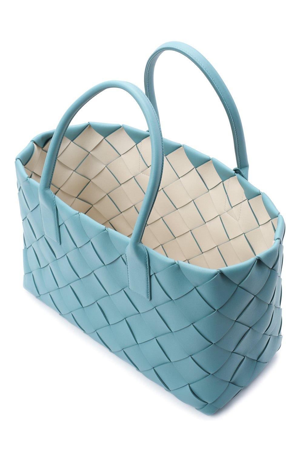 Женский сумка-тоут BOTTEGA VENETA голубого цвета, арт. 630817/VMAY3 | Фото 4