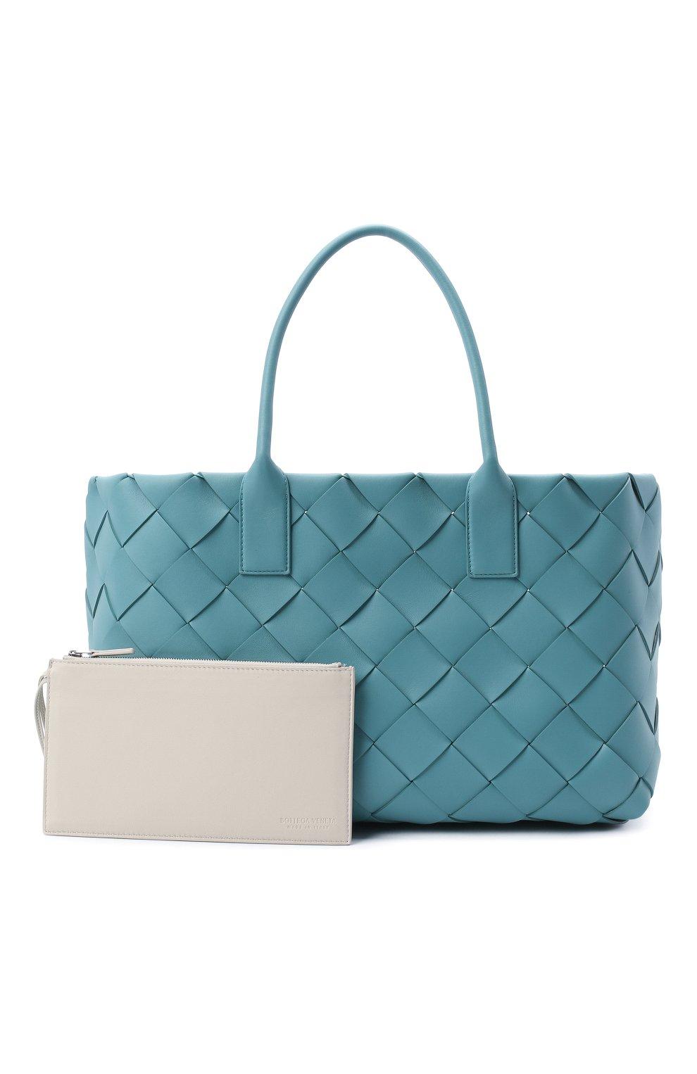 Женский сумка-тоут BOTTEGA VENETA голубого цвета, арт. 630817/VMAY3 | Фото 5