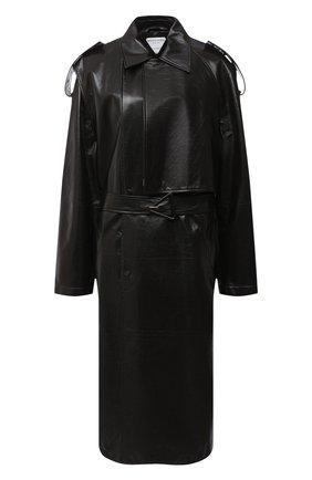 Женское кожаное пальто BOTTEGA VENETA темно-коричневого цвета, арт. 626527/VKLC0 | Фото 1