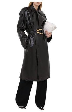 Женское кожаное пальто BOTTEGA VENETA темно-коричневого цвета, арт. 626527/VKLC0 | Фото 2