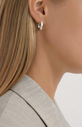 Женские серьги BOTTEGA VENETA серебряного цвета, арт. 573452/V5070 | Фото 2