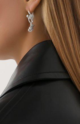 Женские серьги BOTTEGA VENETA серебряного цвета, арт. 629181/VB0BH | Фото 2