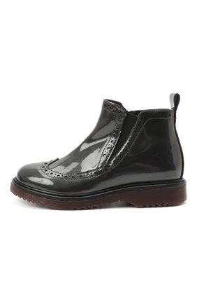 Детские кожаные ботинки MONTELPARE TRADITION серого цвета, арт. MT14127/PIUMA/28-35 | Фото 2