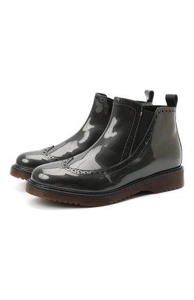 Детские кожаные ботинки MONTELPARE TRADITION серого цвета, арт. MT14127/PIUMA/36-41 | Фото 1