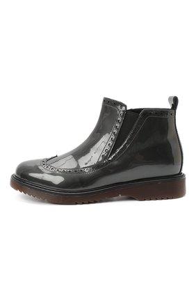 Детские кожаные ботинки MONTELPARE TRADITION серого цвета, арт. MT14127/PIUMA/36-41 | Фото 2