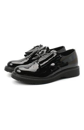 Детские кожаные туфли MONTELPARE TRADITION черного цвета, арт. MT14157/PIUMA/36-41 | Фото 1