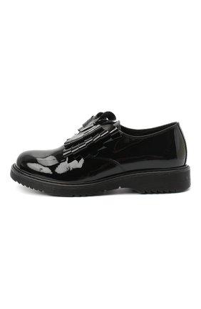 Детские кожаные туфли MONTELPARE TRADITION черного цвета, арт. MT14157/PIUMA/36-41 | Фото 2