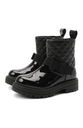 Детские кожаные ботинки MONTELPARE TRADITION черного цвета, арт. MT14354/PIUMA/18-27 | Фото 1