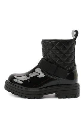 Детские кожаные ботинки MONTELPARE TRADITION черного цвета, арт. MT14354/PIUMA/18-27 | Фото 2