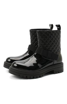 Детские кожаные ботинки MONTELPARE TRADITION черного цвета, арт. MT14354/PIUMA/28-35 | Фото 1