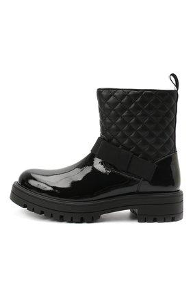 Детские кожаные ботинки MONTELPARE TRADITION черного цвета, арт. MT14354/PIUMA/28-35 | Фото 2