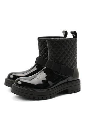 Детские кожаные ботинки MONTELPARE TRADITION черного цвета, арт. MT14354/PIUMA/36-41 | Фото 1