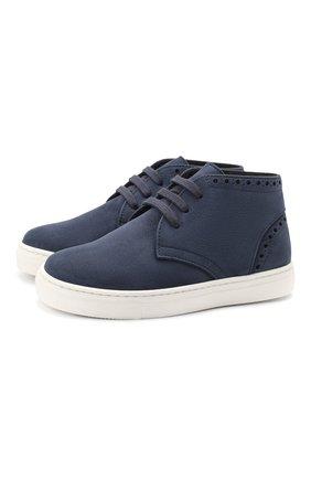 Детские замшевые ботинки MONTELPARE TRADITION синего цвета, арт. MT18063/M0RBID0NE/28-35 | Фото 1