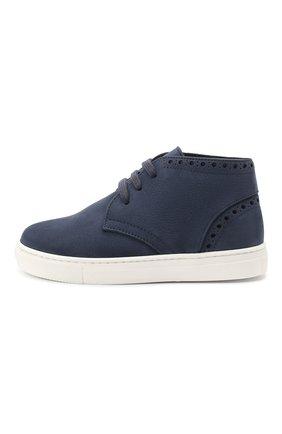 Детские замшевые ботинки MONTELPARE TRADITION синего цвета, арт. MT18063/M0RBID0NE/28-35 | Фото 2
