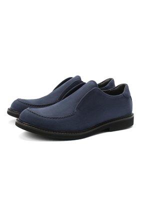 Детские кожаные туфли MONTELPARE TRADITION синего цвета, арт. MT20060/M0RBID0NE/36-41 | Фото 1