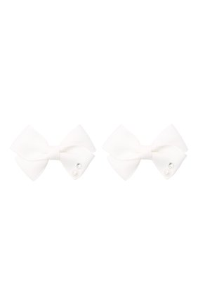 Детская комплект из двух заколок wavy JUNEFEE белого цвета, арт. 6591 | Фото 1