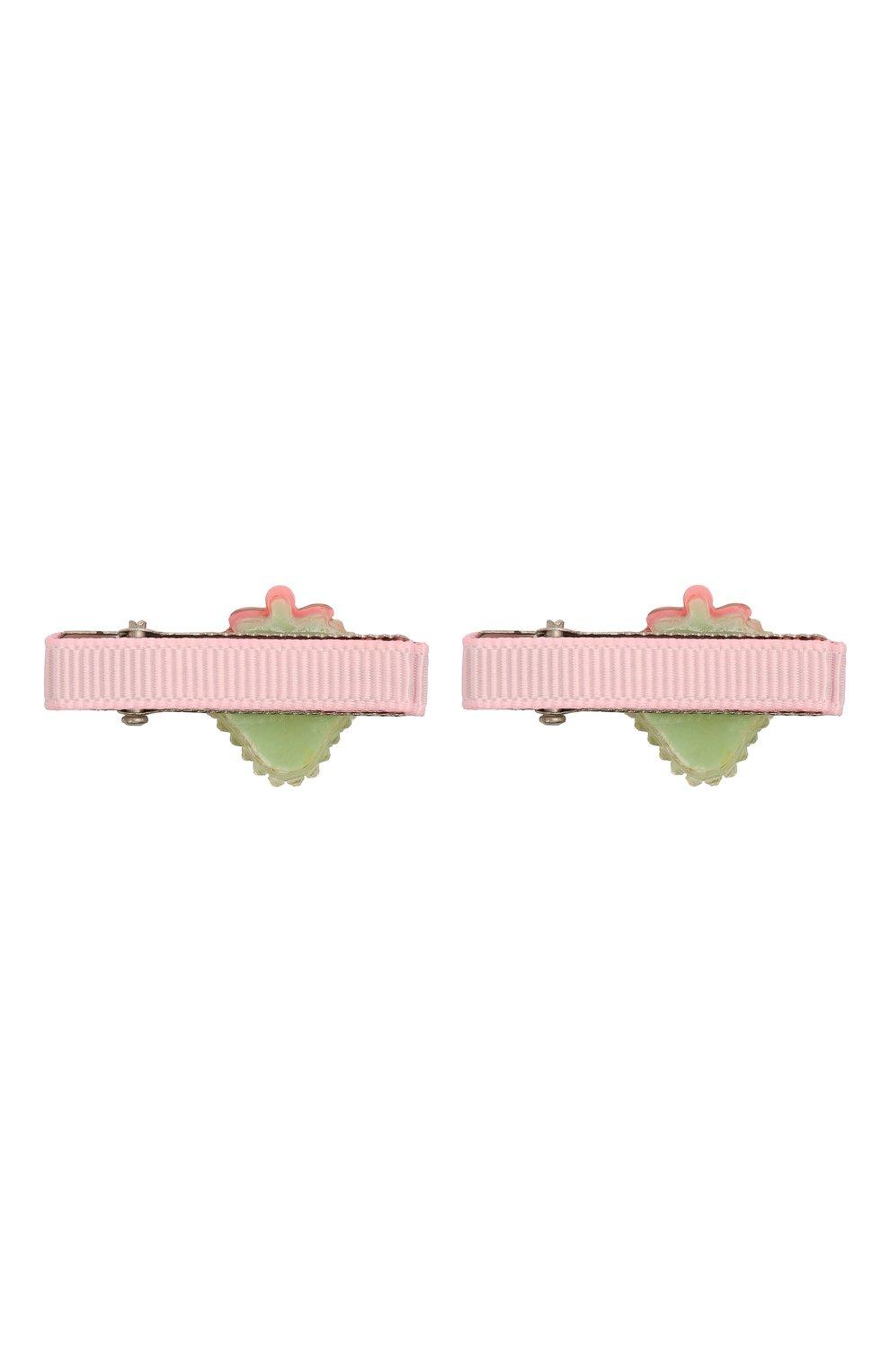 Детская комплект из 2-х заколок shiny strawberry JUNEFEE разноцветного цвета, арт. 6237 | Фото 2
