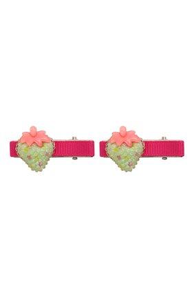 Детская комплект из 2-х заколок shiny strawberry JUNEFEE разноцветного цвета, арт. 6118 | Фото 1