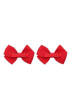 Детская комплект из двух заколок wavy JUNEFEE красного цвета, арт. 6593 | Фото 2