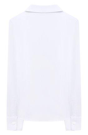 Детское хлопковая блузка DAL LAGO белого цвета, арт. R406/7537/7-12 | Фото 2