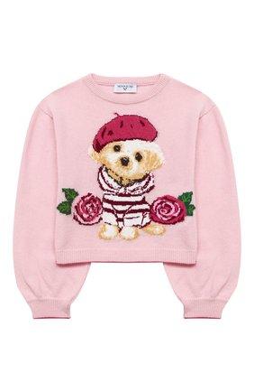 Детский пуловер MONNALISA розового цвета, арт. 196607 | Фото 1