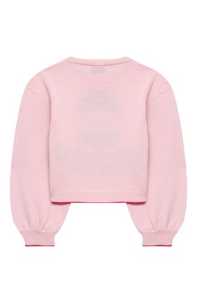 Детский пуловер MONNALISA розового цвета, арт. 196607 | Фото 2