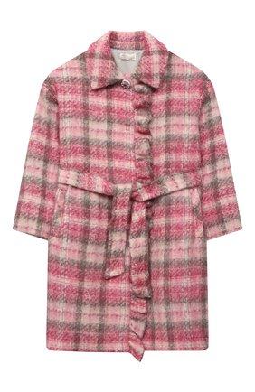 Детское пальто MONNALISA розового цвета, арт. 716105   Фото 1