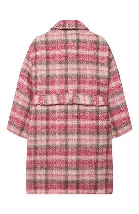 Детское пальто MONNALISA розового цвета, арт. 716105   Фото 2