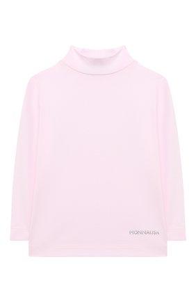 Детская водолазка MONNALISA розового цвета, арт. 176LUP | Фото 1