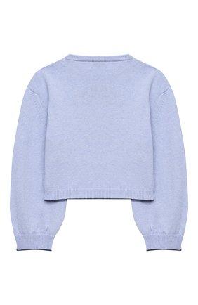 Детский пуловер MONNALISA синего цвета, арт. 196607 | Фото 2