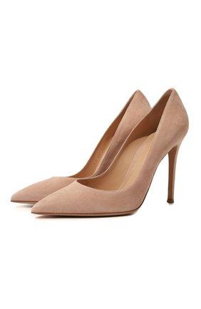 Женская замшевые туфли gianvito 105 GIANVITO ROSSI бежевого цвета, арт. G28470.15RIC.CAMPEAH | Фото 1