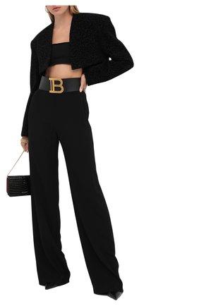 Женский топ из вискозы BALMAIN черного цвета, арт. UF10975/K050 | Фото 2