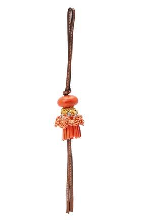 Женский брелок LOEWE оранжевого цвета, арт. C621232X16   Фото 2