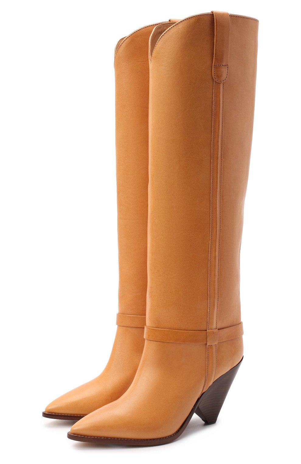 Женские кожаные сапоги lenskee ISABEL MARANT коричневого цвета, арт. LENSKEE/BT0042-20A008S   Фото 1