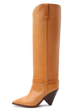 Женские кожаные сапоги lenskee ISABEL MARANT коричневого цвета, арт. LENSKEE/BT0042-20A008S   Фото 3