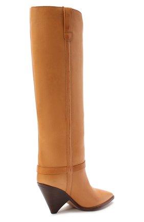 Женские кожаные сапоги lenskee ISABEL MARANT коричневого цвета, арт. LENSKEE/BT0042-20A008S   Фото 4