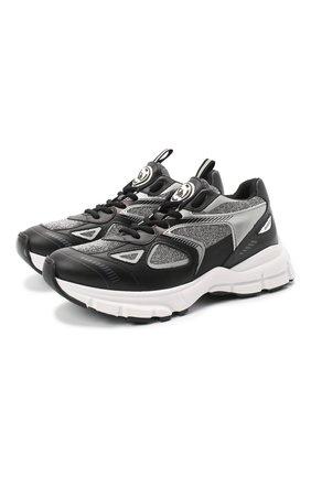 Женские комбинированные кроссовки marathon glitter AXEL ARIGATO черного цвета, арт. 93058 | Фото 1