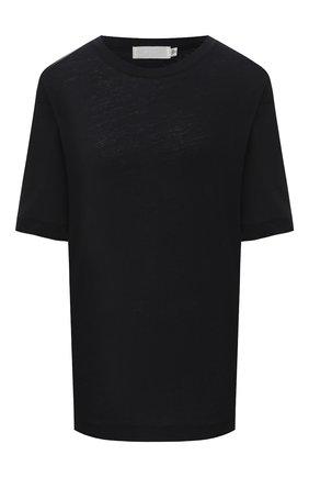 Женская футболка из хлопка и льна MOUSSY черного цвета, арт. 025DS380-0390 | Фото 1