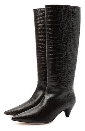 Женские кожаные сапоги JOSEPH бордового цвета, арт. J035004A/12021 | Фото 1