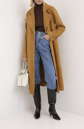 Женские кожаные сапоги JOSEPH бордового цвета, арт. J035004A/12021 | Фото 2