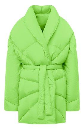 Женский пуховик KHRISJOY зеленого цвета, арт. BFPW037/NY | Фото 1