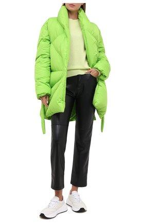 Женский пуховик KHRISJOY зеленого цвета, арт. BFPW037/NY   Фото 2