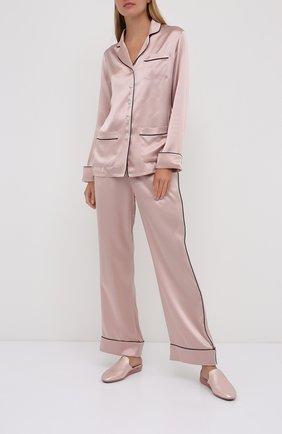Женская шелковая пижама OLIVIA VON HALLE светло-розового цвета, арт. CT0021 | Фото 1