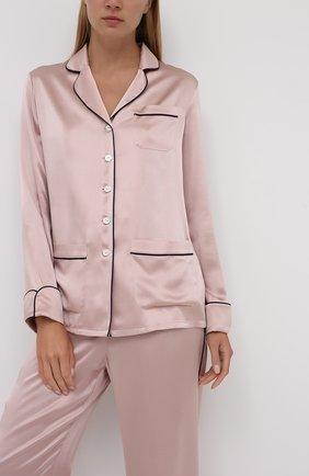 Женская шелковая пижама OLIVIA VON HALLE светло-розового цвета, арт. CT0021 | Фото 2
