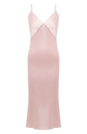 Женское шелковое платье OLIVIA VON HALLE светло-розового цвета, арт. CT0023 | Фото 1
