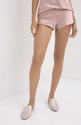 Женская шелковая пижама OLIVIA VON HALLE светло-розового цвета, арт. CT0022 | Фото 4 (Материал внешний: Шелк; Длина Ж (юбки, платья, шорты): Мини; Длина (для топов): Стандартные)