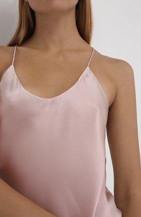 Женская шелковая пижама OLIVIA VON HALLE светло-розового цвета, арт. CT0022 | Фото 6 (Материал внешний: Шелк; Длина Ж (юбки, платья, шорты): Мини; Длина (для топов): Стандартные)