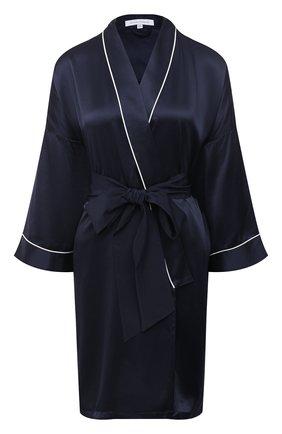 Женский шелковый халат OLIVIA VON HALLE синего цвета, арт. CT0019 | Фото 1