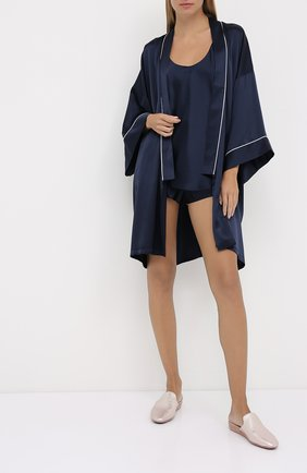 Женская шелковая пижама OLIVIA VON HALLE синего цвета, арт. CT0017 | Фото 1