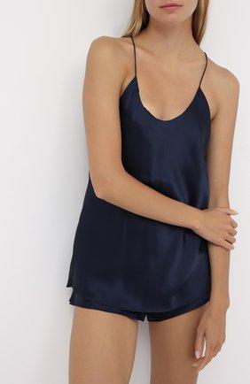 Женская шелковая пижама OLIVIA VON HALLE синего цвета, арт. CT0017 | Фото 2